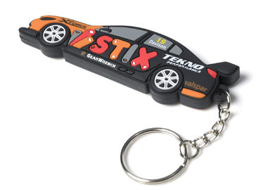 China Custom 2D/3D Soft PVC Rubber Keychain With Extra Printed Logo supplier