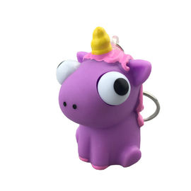 China Creative Cartoon PVC Soft Rubber Unicorn Eyes Pop Out Key Chain, Custom Anime Toys, Eye Pop Out Squeeze Toys supplier