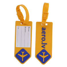 China Custom Silicone Luggage Tag For Airlines Advertisement - With Name ID Card and Flexible Strap for Travel Bag or Suitcase supplier