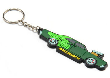 China Brand Promotion Best Choice Car Truck Shape Soft PVC Rubber Key Chain with Logo Printed On the Backside supplier