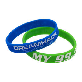 Custom Ink - Filled Silicone Bracelets Sport Event Rubber Wristbands