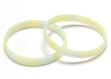 Young Style Embossed Silicone Bracelets Advertising With Personalized Logo