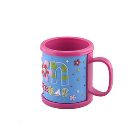China Colorful Plastic Mugs With Soft PVC 2D or 3D Wrapped Logo Skin, Customized ABS Coffee Mug Water Tea Drinks Cup factory