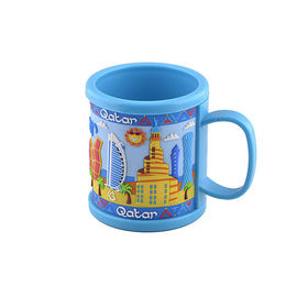 Custom Soft PVC Mug With 2D or 3D or Printing Logo Wrapped For Touristic Travel Destination Souvenir