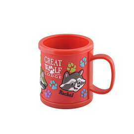 Personlized Name Mug Rachel  Red Soft PVC Mug Plastic Children's Washing Cup