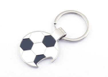 Souvenir Engraved Metal Keychains One Or Double Side Football Shape