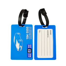 China Promotional Soft PVC Rubber Silicone Made 3D Logo Embossed Luggage Tags For Travel Company factory