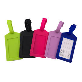 China Cheap Option Silicone Soft Touch Luggage Tag for Travel Identifier and Suitcase Label With Printed Logo factory