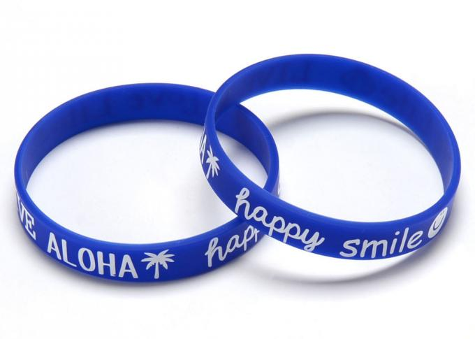 Glow In The Dark Rubber Bracelets Personalized Custom Sports Bracelets