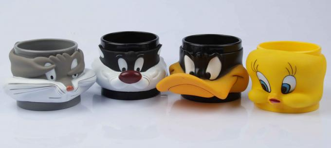 Custom 3D Animal Shaped Soft PVC Mug, Cartoon design cup, Promotion Cup, Fashion souvenir gift for kids