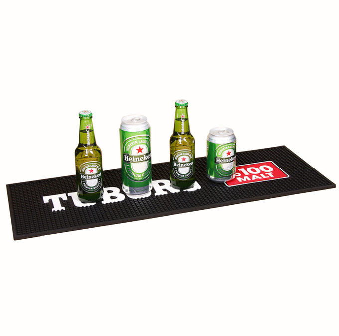 Professional Custom Soft PVC Bar Mat Beer Rectangular Bar Mat Spill Mat Rail Drip Mat